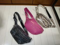ダイヤモンドパイソン革(3種3色)belt bag&body bag