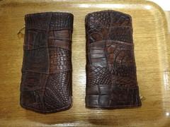 クロコダイル革:パッチワーク(ヴィンテージ仕上げ革)BR色