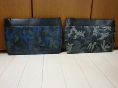 書類ケース(A4収納寸)リザード革迷彩柄&牛革