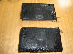 パッチワークモデル:長札財布(ファスナー仕様、ドロップハンドル金具付)