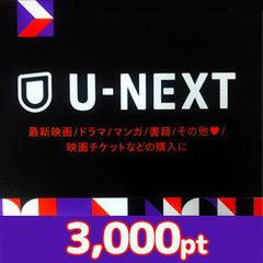 U-NEXTポイント(3,000pt)