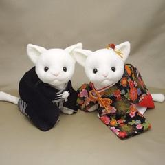 和装ウェディングキャット(ウェルカムキャット)白猫