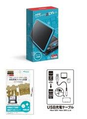Newニンテンドー2DS LL ブラック×ターコイズ+USB充電ケーブル