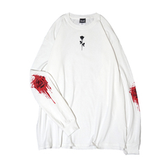 Barbed Wire Rose L/S T-Shirts