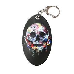 Rose Earth Skull Key Holder