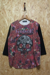 Rose Skull Base Ball T-Shirts