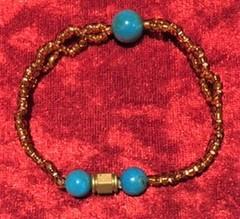 数珠ブレスレット(ターコイズ)