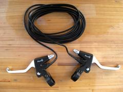 電動自転車用スイッチ付ブレーキレバー(Vブレーキ、2フィンガー)