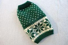 雪模様のセーター「グリーン」