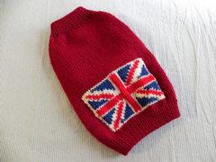 イギリス国旗のセーター「ワイン」