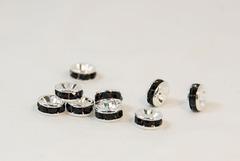6×3 平型ロンデル(シルバー) ブラック