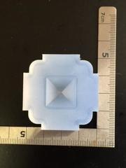 15mm「ピラミッド(表)」レジン用モールド