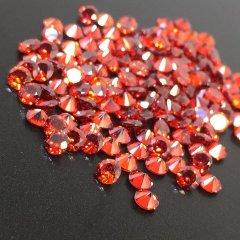 ダイヤカット2.5×1.7 レッド キュービックジルコニア