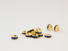 6×3 平型ロンデル(ゴールド) サファイア