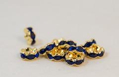 8×3.8 波型ロンデル(ゴールド) ブルー
