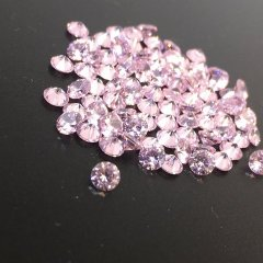 ダイヤカット2.5×1.7 ピンク キュービックジルコニア