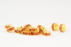 6×3 平型ロンデル(ゴールド) ヒヤシンス