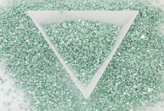 メタルガラスカレット シーグリーン