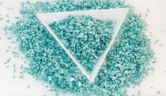 メタルガラスカレット ターコイズ
