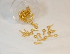 ネジヒートン(8x4x1mm)ゴールド 20個入り