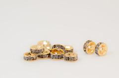 6×3 平型ロンデル(ゴールド) グレー