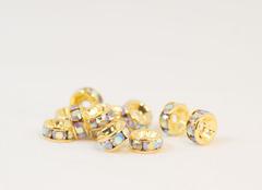 6×3 平型ロンデル(ゴールド) オーロラ