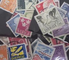スェーデン使用済み切手(10枚入り)