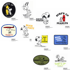 """SNOOPY SURF """"SURF'S UP"""" STICKER"""