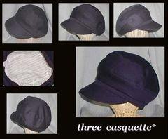 【紙】Three Pieces Casquette パターン