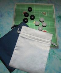 クリスマス9路とプラ碁石のセット(巾着袋付)