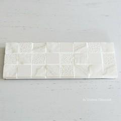 W様オーダー品 パールホワイトタイルのディスプレイトレイ(小物置き台)