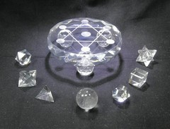 限定1セット!ジオメトリックス・フルセット(六芒星七星陣台座付)ヒマラヤ水晶