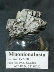 ムオニオナルスタ隕石113,0G(鉄隕石)特殊酸加工(スウェーデン産)