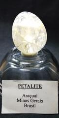 ペタライト原石ポリッシュ・エッグシェイプ20,3Gレインボー、宝石質(ブラジル・ミナスジェライス・アラクワイ産)