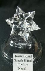 アステロイド水晶34,4G手彫り(ヒマラヤ・ガネーシュヒマール産)