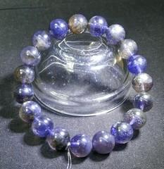 ブラッドショットアイオライト・ブレスレット10,0mmAAAAA宝石質(南アフリカ産)