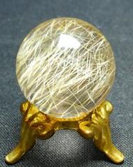 ゴールドルチルクォーツ・スフィア20mmAAA(ブラジル産)