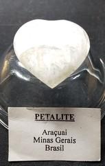 ペタライト原石ポリッシュ・ハート11,6Gレインボー、宝石質(ブラジル・ミナスジェライス・アラクワイ産)