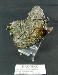 アイアンアタキサイト・ドロニノ隕石323,8G(ロシア・リャザン産)