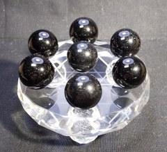 限定1セット!チベット産スターモリオン六芒星七星陣(溶錬水晶台座付)