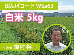 生きもの元気米(減農薬)・田んぼWSa63の白米5kg コシヒカリ