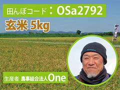 生きもの元気米(減農薬)・田んぼOSa2792の玄米5kg ゆめみづほ