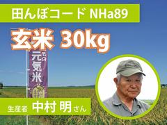 生きもの元気米(減農薬)・田んぼNHa89の玄米30kg コシヒカリ