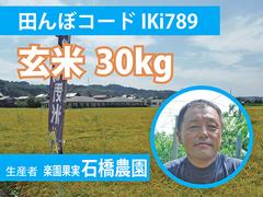 生きもの元気米(農薬不使用)・田んぼIKi789の玄米30kg コシヒカリ