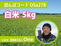 生きもの元気米(減農薬)・田んぼOSa278の白米5kg コシヒカリ