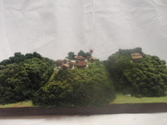 武田の城 若神子城と若神子下兵站地 お城 ジオラマ 完成品