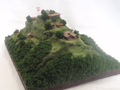武田の城 白山城 お城 ジオラマ 完成品
