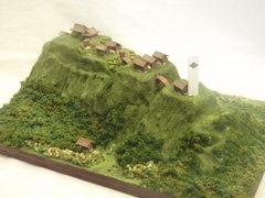 武田の城 本栖城(富士山樹海にあった城) お城 ジオラマ 完成品