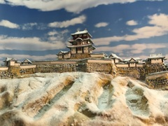 天空の城 竹田城 お城 ジオラマ 完成品