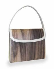 かぶせ型 木のバッグ(大)